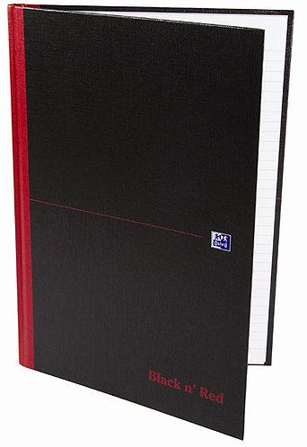 """Oxford záznamní kniha """"Black n' Red"""", A4, čtverečkovaná, 96 listů"""