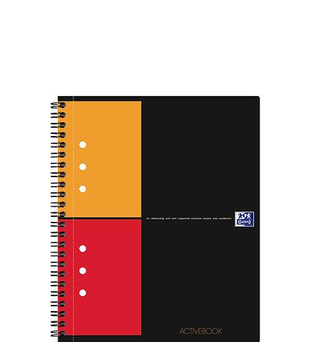 """Oxford zápisník """"Activebook"""", A5+, štvorčekový, 80 listov"""