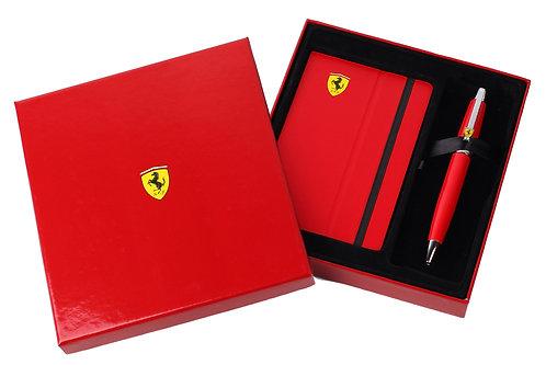 "Sheaffer kuličkové pero ""Ferrari 500"", červené, sada se zápisníkem"