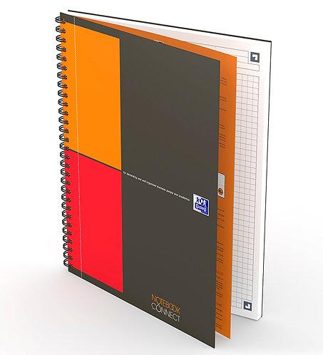 celkový pohled na záznamní knihu Oxford Notebook B5 čtverečkovanou