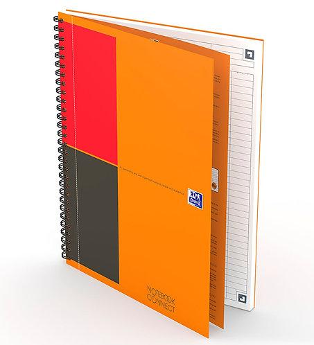celkový pohled na záznamní knihu Oxford Notebook B5 linkovanou