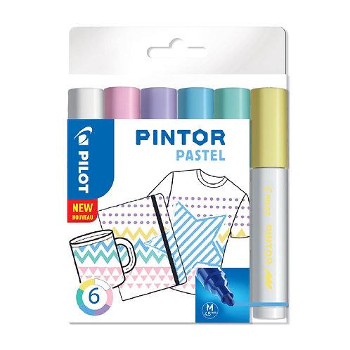 """Pilot dekorativní popisovač """"Pintor"""" Pastel, sada 6ks, hrot M"""