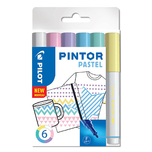 "Pilot dekoračný popisovač ""Pintor"" Pastel, sada 6ks, hrot F"