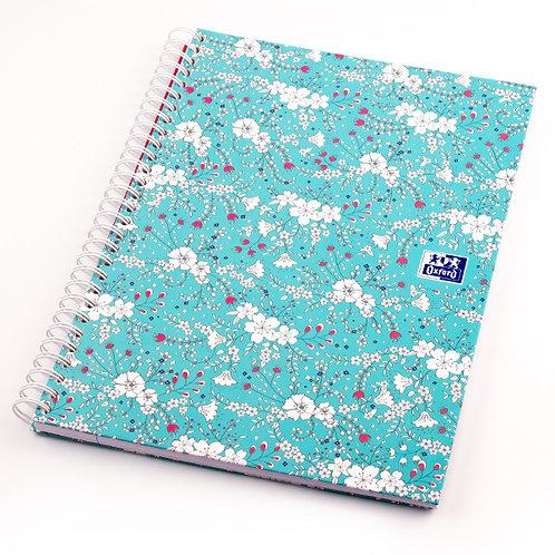 """Oxford zápisník """"Floral"""", B5, linkovaný, 60 listů"""