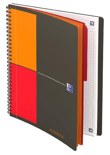 """Oxford zápisník """"Activebook"""", B5, čtverečkovaný, 80 listů"""