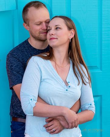 Josh and Lindsay engagement shoot at Leg