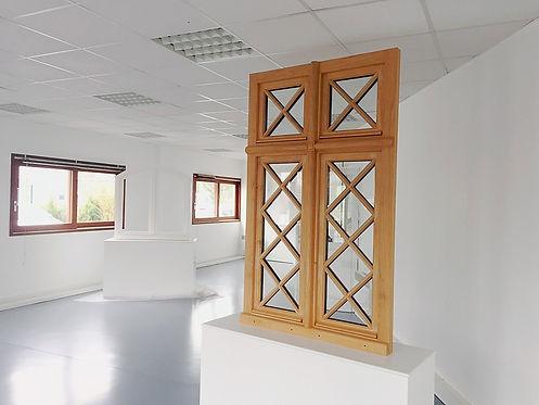 Fenêtre chêne massif petits bois artisanaux