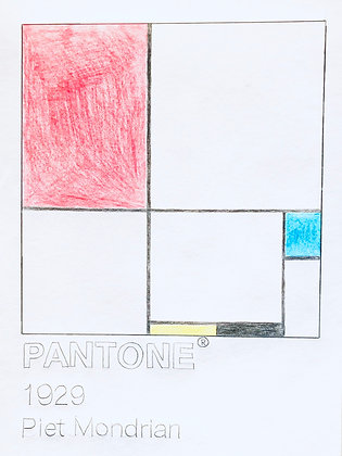 Piet Mondrian 1929 Pantone