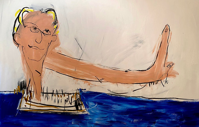 Self portrait ( Floating down the River of Dreams )