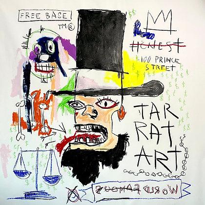 JMB's Abe Homage to Basquiat