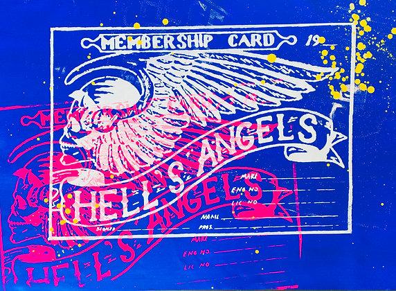 Hells Angels Membership Cards Blue Member