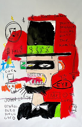 A Lincoln by JMB Homage to Basquiat