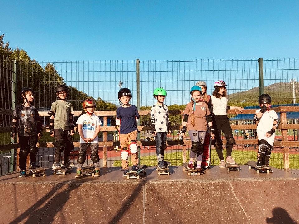 Групповые тренировки Скейтборд