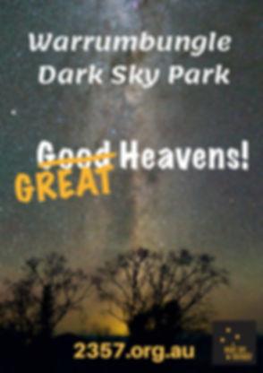 Warrumbungle Dark Sky Park Street banner