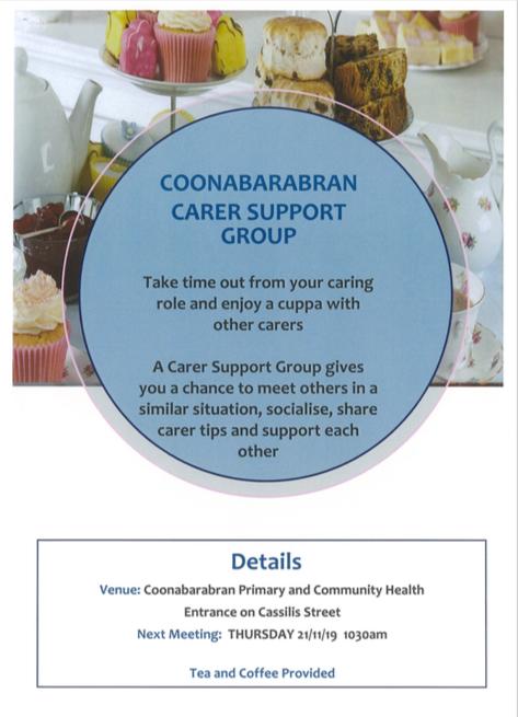 Coonabarabran Carer support Group meetin