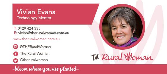 Vivian Evans contact details vivian@theruralwoman.com.au