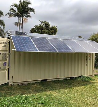 Stand alone system with panels out front