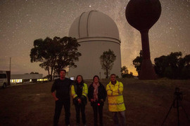 Participants of astrophotography worksho