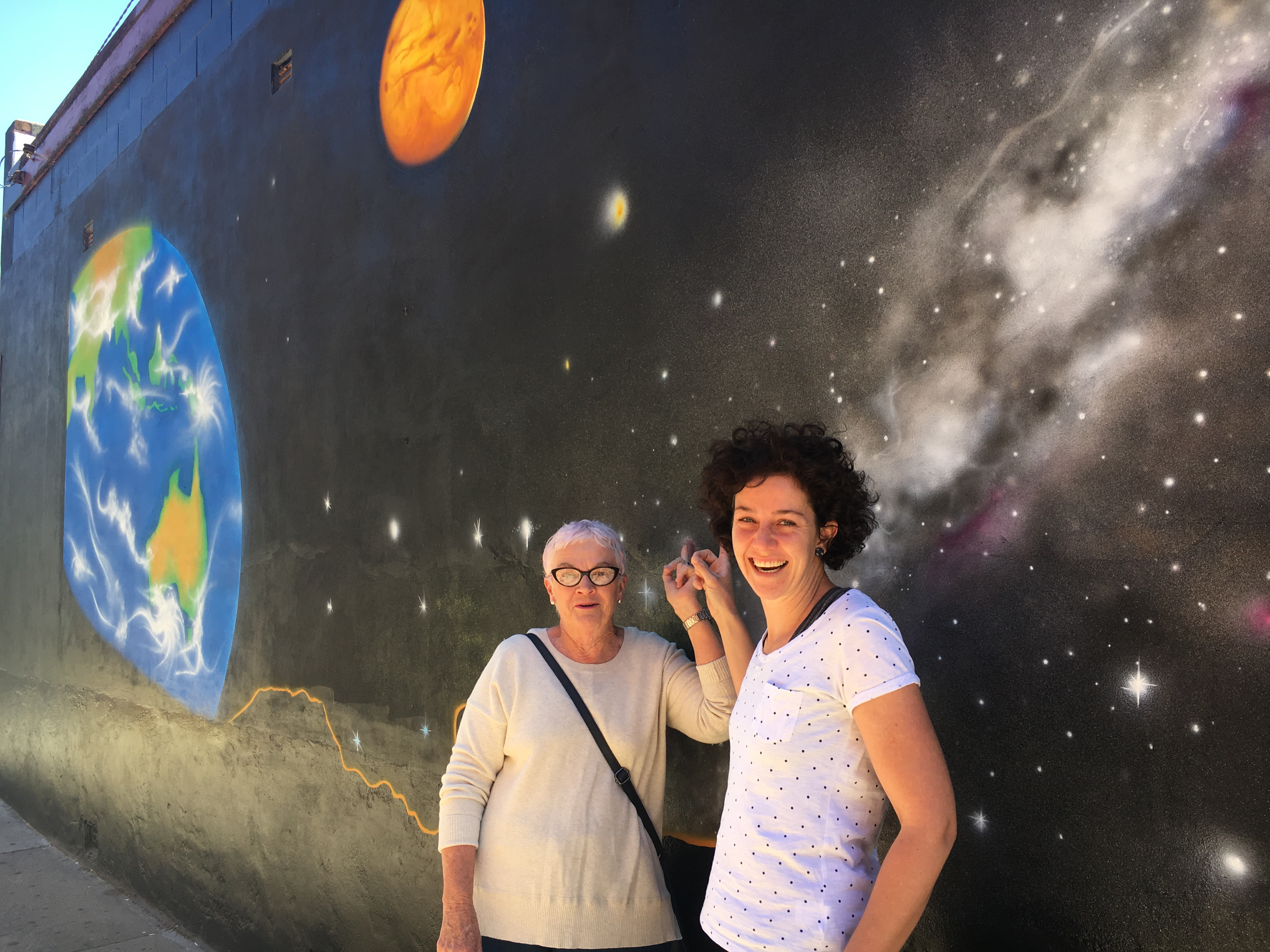 Space Mural on Bakery wall