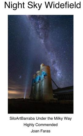 Silo Art Barraba Under the Milky Way by Joan Fares