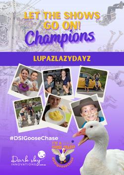 1st LupazLazyDayz GooseChase Champion po