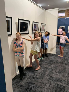 Youth admiring the deep space entries