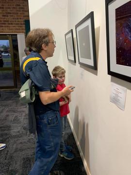 Steve & Lachie admiring spectacular images