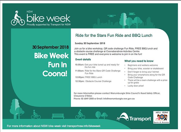 Bike Week Coonabarabran Ride for the Sta