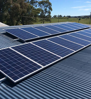 Solar panels installed by Guy Andrews El