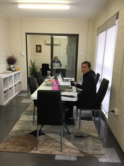 Hot desk space