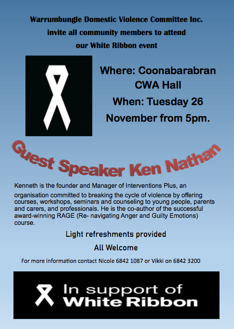 White Ribbon Day event poster