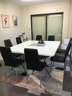 Meeting space for 8