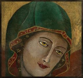 Hildegarde de Bingen 10 cm x 10 cm
