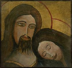 Jesus et Marie de Magdala 10 cm x 10 cm