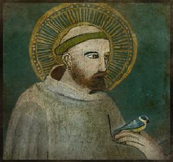 Saint François d'Assise 10 cm x 10 cm