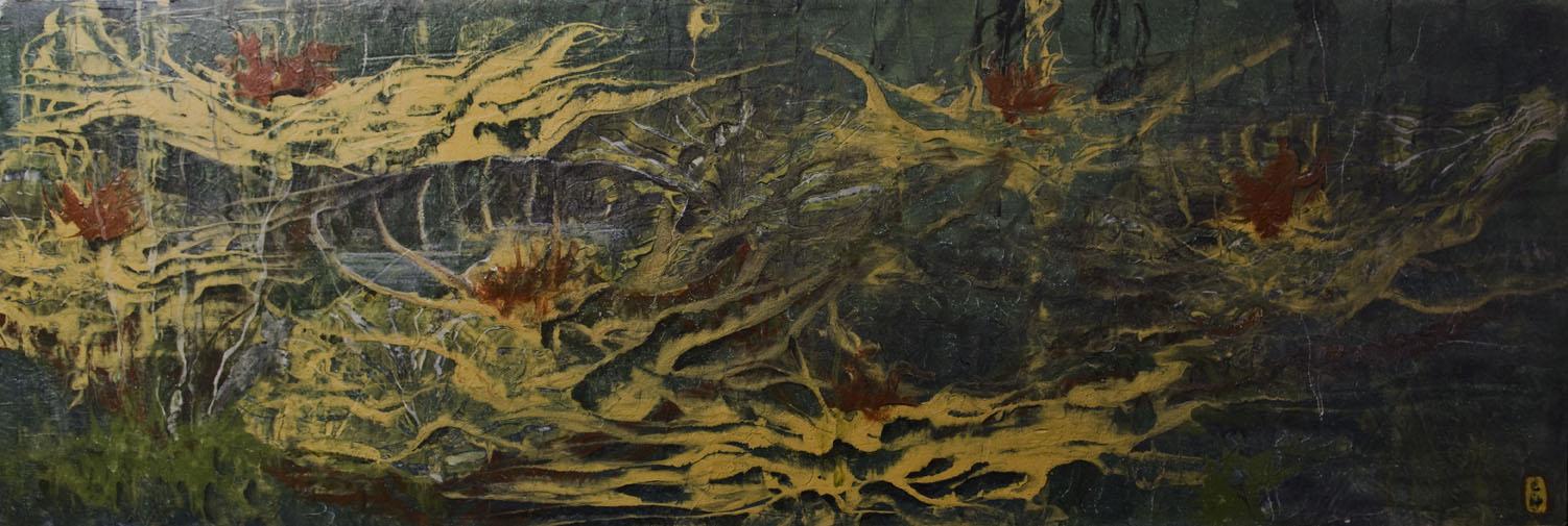 Paysage neuronal 100 x 50 (collection privée)