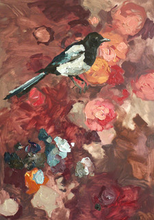 """Evolution of a Magpie, 20""""x30"""""""