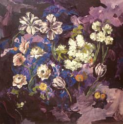 """Toss the Flowers Up In the Air, 36""""x36"""""""