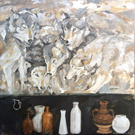 """The Pack, 48""""x48"""""""