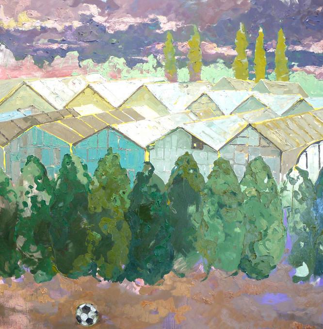 "Landscape Study, 42""x42"""