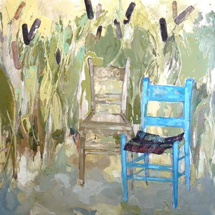 "Cristina's Chair, 48""x48"""