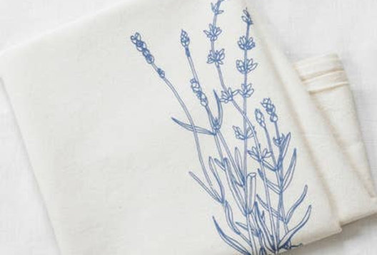 Lavender Tea Towel - Organic Cotton