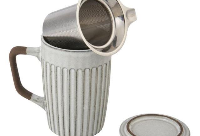 Tea Infuser Mug Shell 18oz