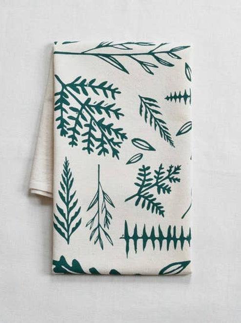 Woodland Ferns Tea Towel - Organic Cotton