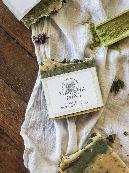 Matcha Mint Goat Milk Soap Bar