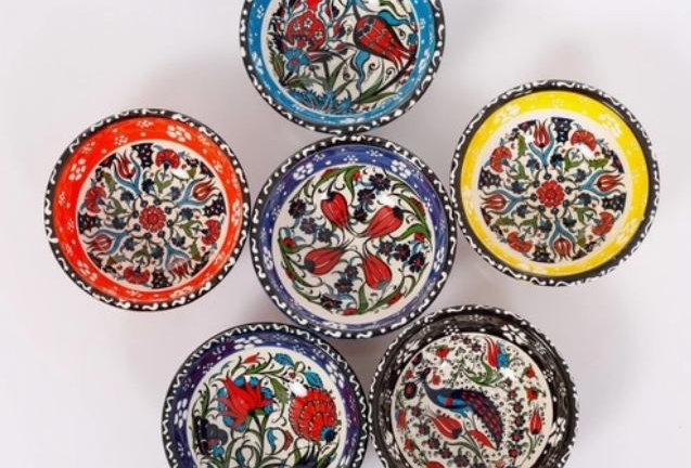Floral Ceramic Small Bowls Set of 6