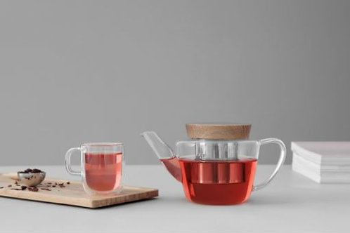 Infusion™ Glass teapot with Wooden lid