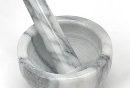 Mortar & Pestle, White Marble