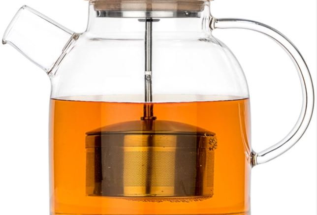 Glass Stovetop Teapot Kettle 47oz w/ Infuser