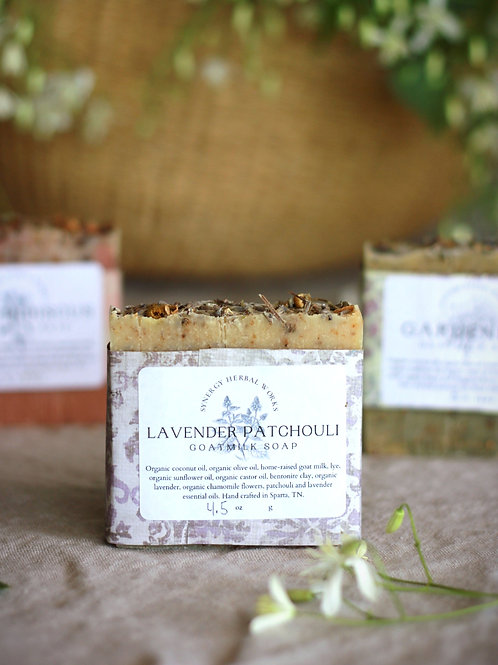 Lavender Patchouli Goat Milk Soap Bar